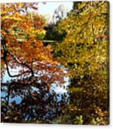 Golden Autumn Trees Canvas Print