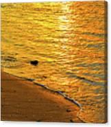 Golden Beach Sunset Canvas Print