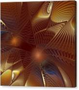 Golden Bronze Swirl Canvas Print