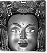 Golden Buddha Monochrome Canvas Print