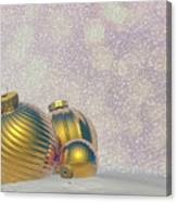 Golden Christmas Balls - 3d Render Canvas Print