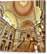 Golden City Hall Canvas Print