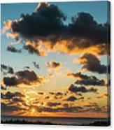 Golden Cloud Sunrise Delray Beach Florida Canvas Print