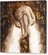 Golden Column Canvas Print