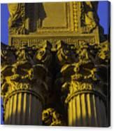 Golden Columns Palace Of Fine Arts Canvas Print