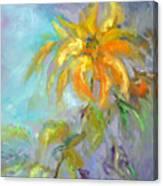 Golden Dahlia Canvas Print