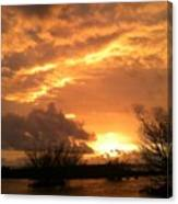 Golden Dawn At Pohoiki  Canvas Print