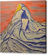 Golden Dawn On Matterhorn Canvas Print