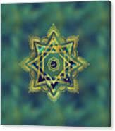 Golden Decorative Star Of Lakshmi - Ashthalakshmi  Canvas Print