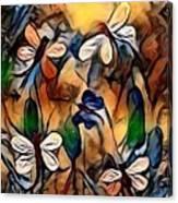 Golden Dragons Canvas Print