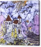 Golden Eagle Flies Above Castle Canvas Print