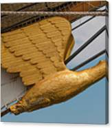 Golden Eagle Masthead Canvas Print