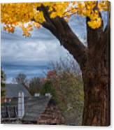 Golden Fall Colors Over Iron Works Canvas Print