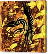 Golden Flight Contemporary Abstract Canvas Print