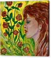 Golden Flora Canvas Print