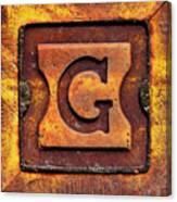 Golden G Canvas Print