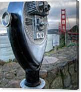 Golden Gate Binoculars Canvas Print