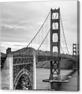 Golden Gate Bridge Black And White Canvas Print