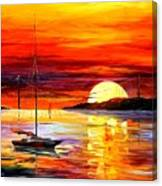 Golden Gate Bridge By The Sunset Canvas Print