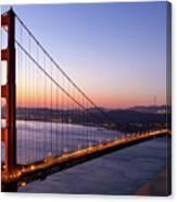Golden Gate Bridge During Sunrise Canvas Print