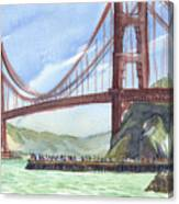 Golden Gate Bridge From Fort Baker, Ca Canvas Print