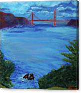 Golden Gate Bridge From Lincoln Park Canvas Print