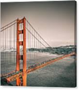 Golden Gate Bridge Selective Color Canvas Print