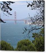 Golden Gate Bridge Through The Trees Canvas Print