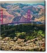 Golden Gate Bridge - Twin Peaks Canvas Print