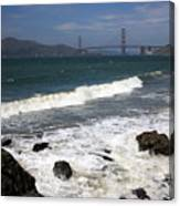 Golden Gate Bridge With Surf Canvas Print