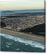 Golden Gate Park And Ocean Beach In San Francisco Canvas Print