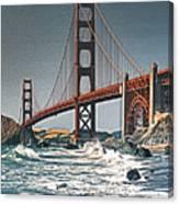 Golden Gate Surf Canvas Print
