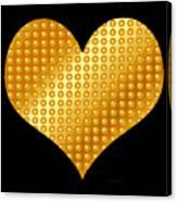Golden Heart Black  Canvas Print