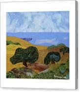 Golden Hills With Oaks Canvas Print