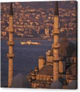 Golden Horn At Sunset From Suleymaniye Canvas Print