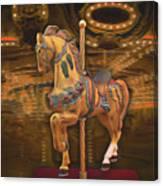 Golden Horse Canvas Print