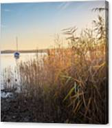 Golden Hour At The Lake Canvas Print