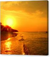 Golden Hour In Indonesia Canvas Print