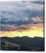 Golden Hour In Volterra Canvas Print