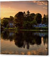 Golden Hour New England Scenery  Canvas Print