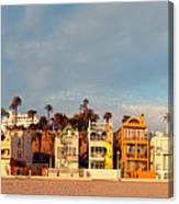 Golden Hour Panorama Of Santa Monica Condos And Bungalows - Los Angeles California Canvas Print