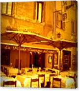 Golden Italian Cafe Canvas Print