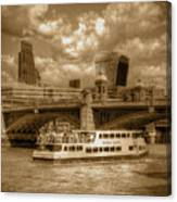 Golden Jubilee Party Boat Canvas Print