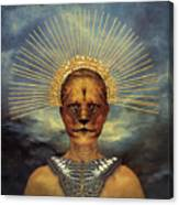 Golden Jungle Queen Canvas Print