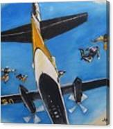 Golden Knights Army Parachute Team Canvas Print