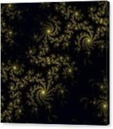Golden Lace On Black Velvet Canvas Print