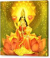 Golden Lakshmi Canvas Print