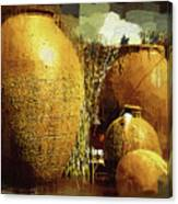 Golden Large Fountain Urns Canvas Print