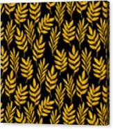 Golden Leaf Pattern Canvas Print