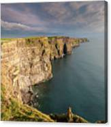 Golden Light At The Cliffs Of Moher Canvas Print